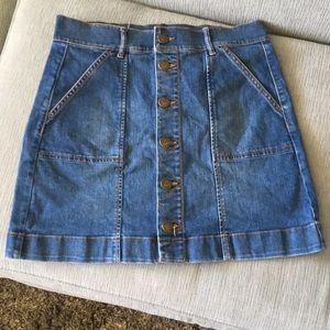 Ann Taylor Loft Denim Miniskirt
